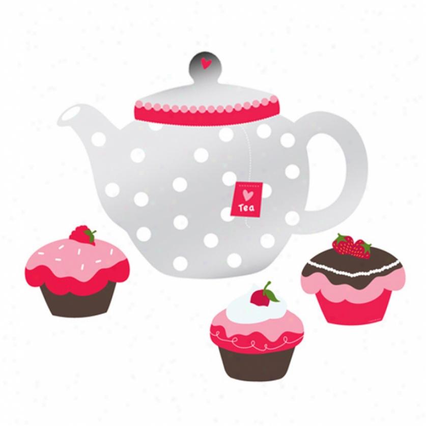Teapot & Cupcakes Mirrors