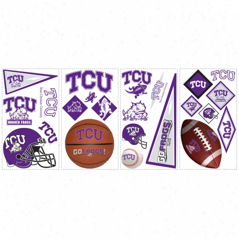 Texas Christian University Wall Decals