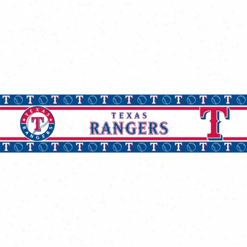 Texas Rangers Peel & Stick Border