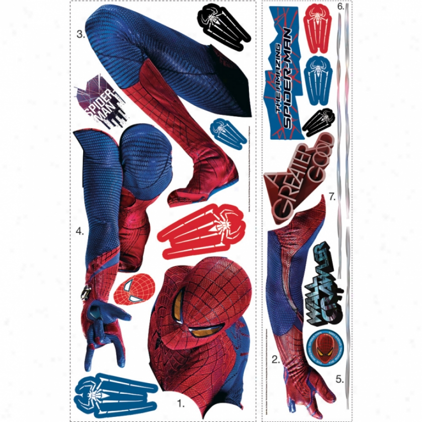 The Amazing Spider-man Web Slinging Giant Wall Decal