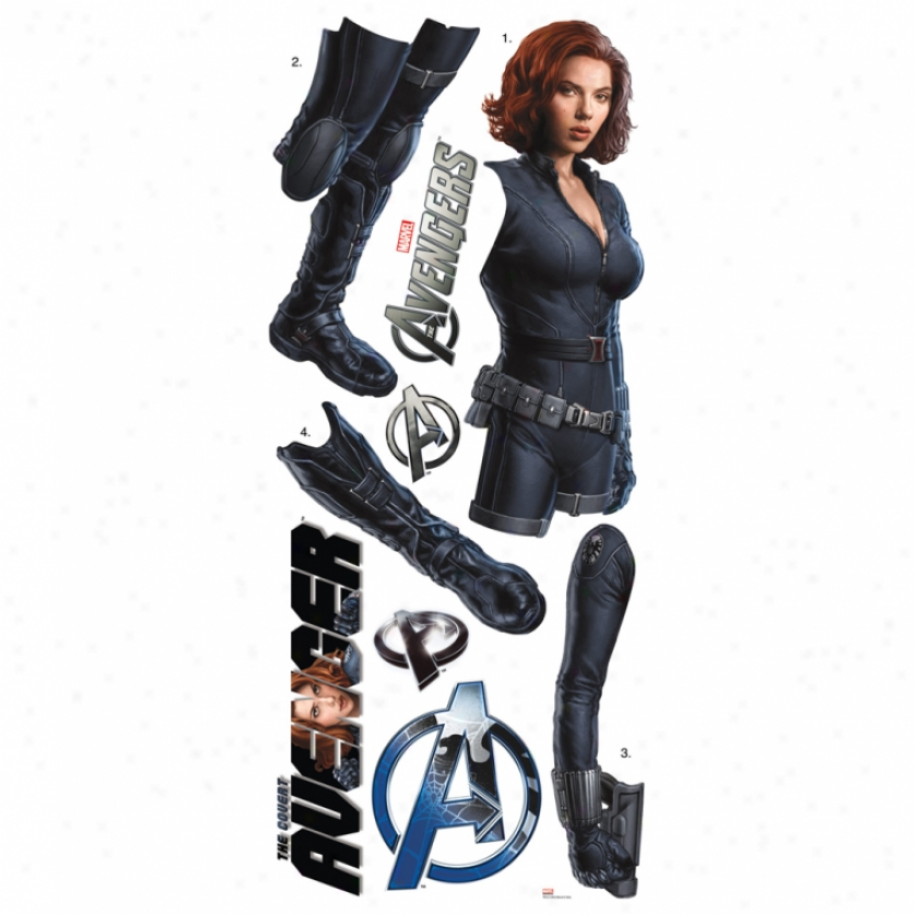 The Av3ngers Black Widow Giant Wall Decal