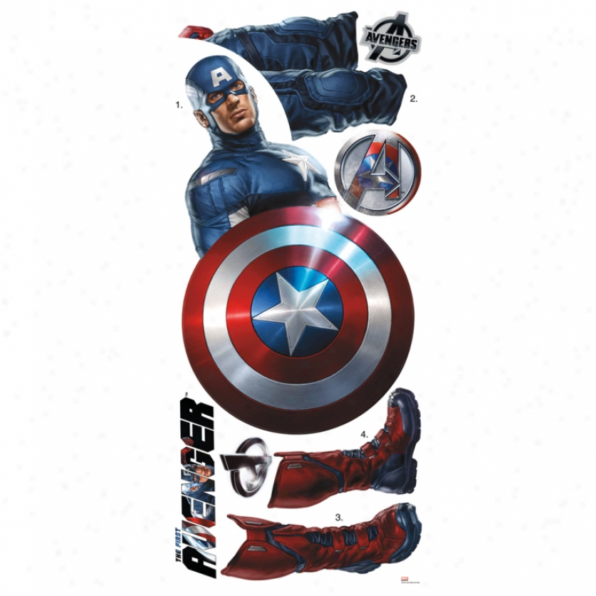 The Avengers Captain America Giant Wall Decal
