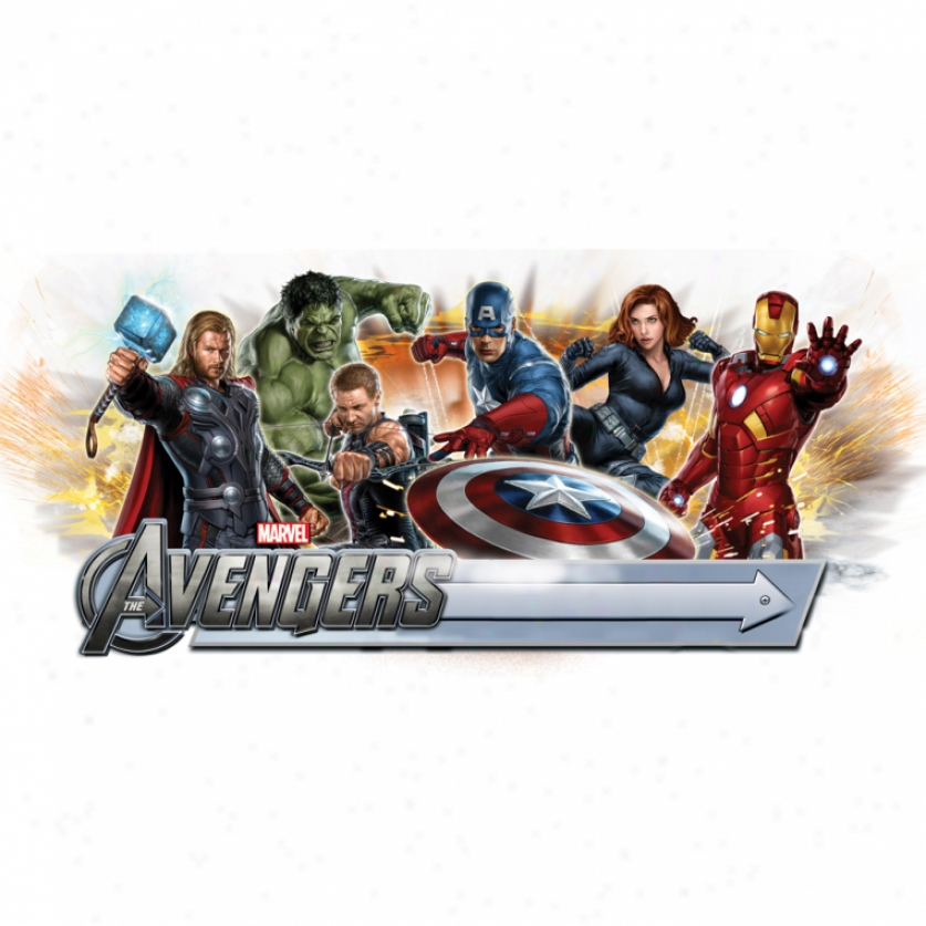 The Avengers Giant Wall Decal With Alphabet