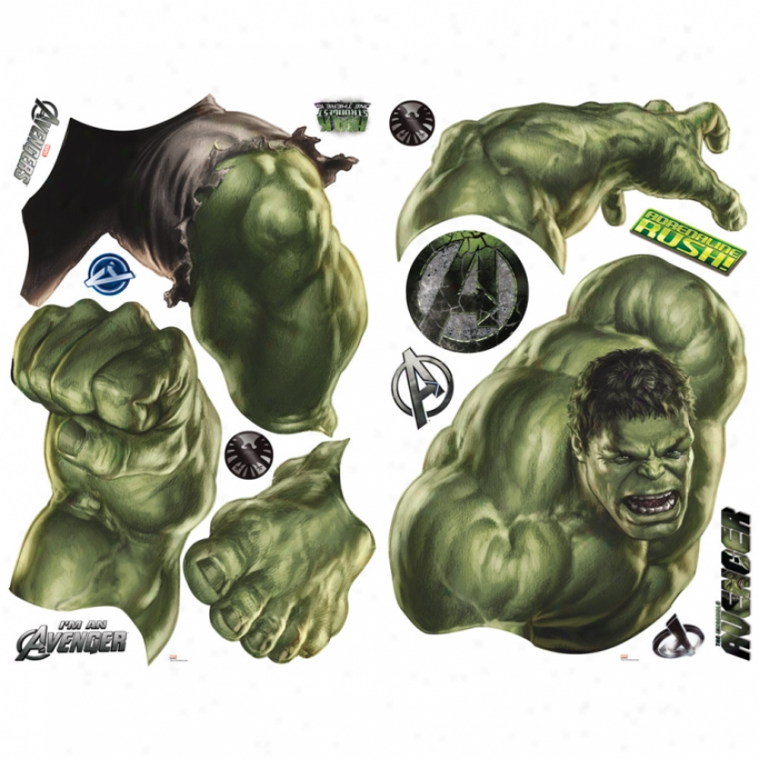 The Avengers Hulk Giant Wall Decal