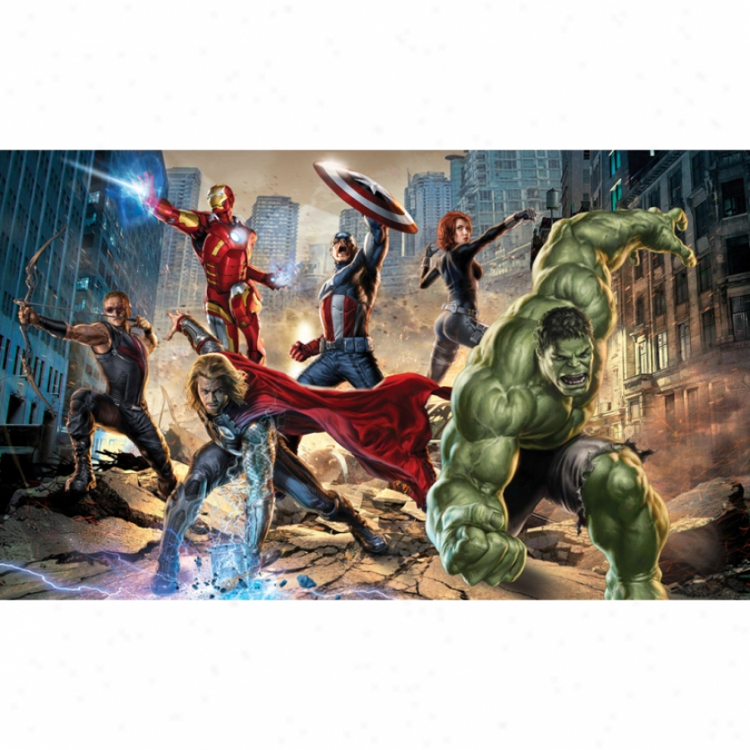 The Avengers Xl Wallpaper Mural 10.5' X 6'