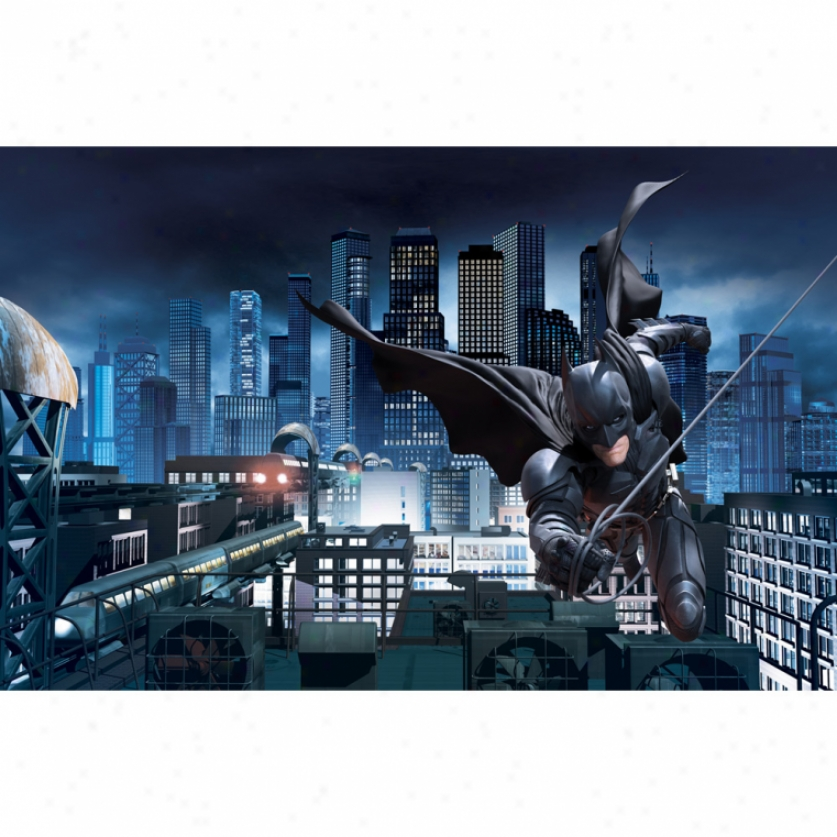 The Dark Knight Rises(tm) Xl Wallpaper Mural 10.5' X 6'