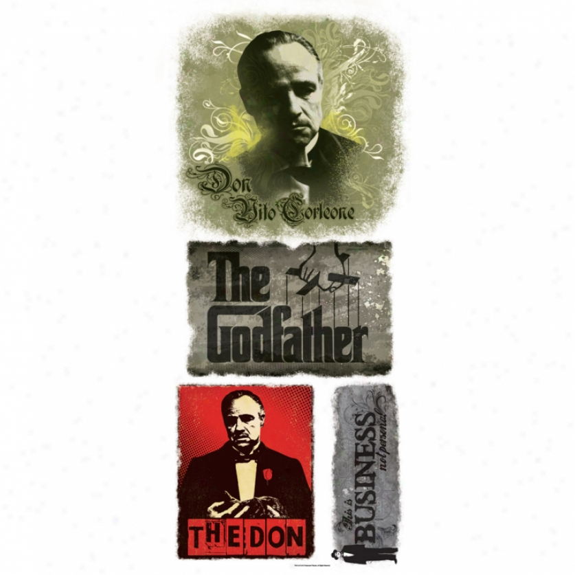 The Godfather Signs Giant Wall Decal