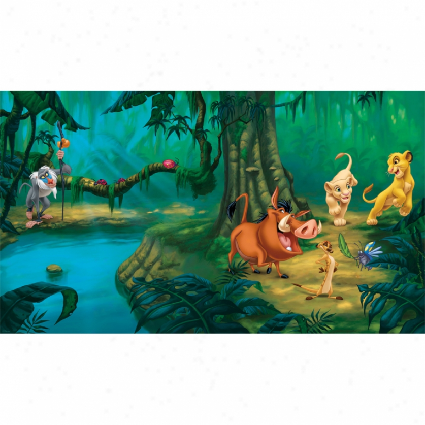 The Lion King Xl Wallpaper Mural 10.5' X 6'