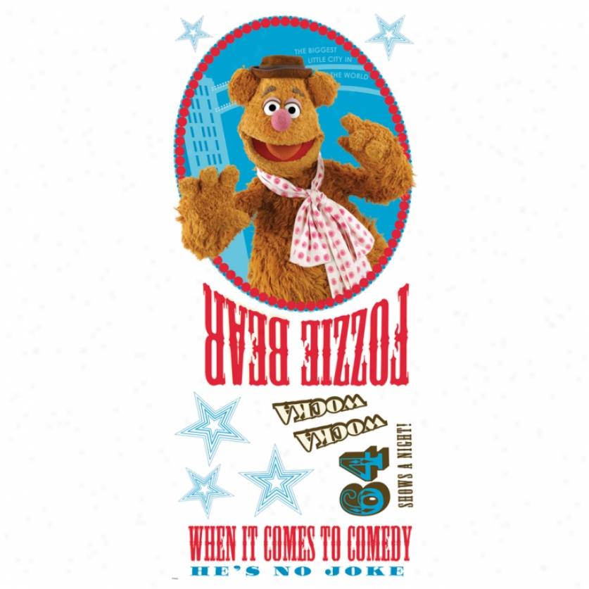The Muppets Fozzie Giant Wall Decals