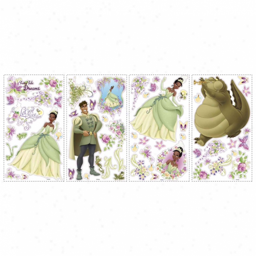 The Princess And The Frog Wall Decals With 3d Butterflies