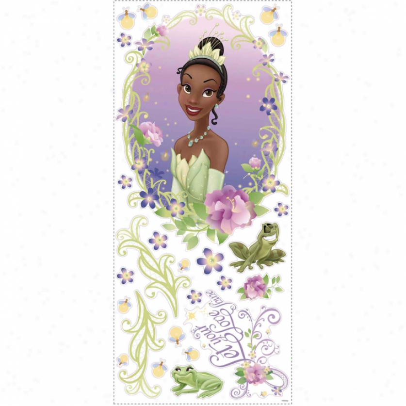 The Princess And The Frog Wall Medallion Witg 3d Butterflies