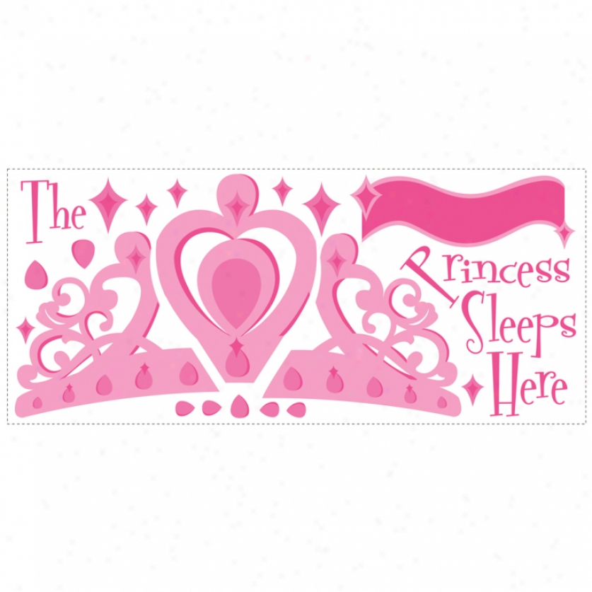 The Princess Sleeps Here Monster Wall Decal With Alphabet