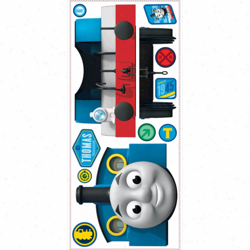 Thomas The Tank Engine(tm) Giant Wal Decal With Hooks
