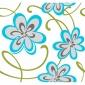 Colorful Glitter Floral Aqua & Green Wallpaper