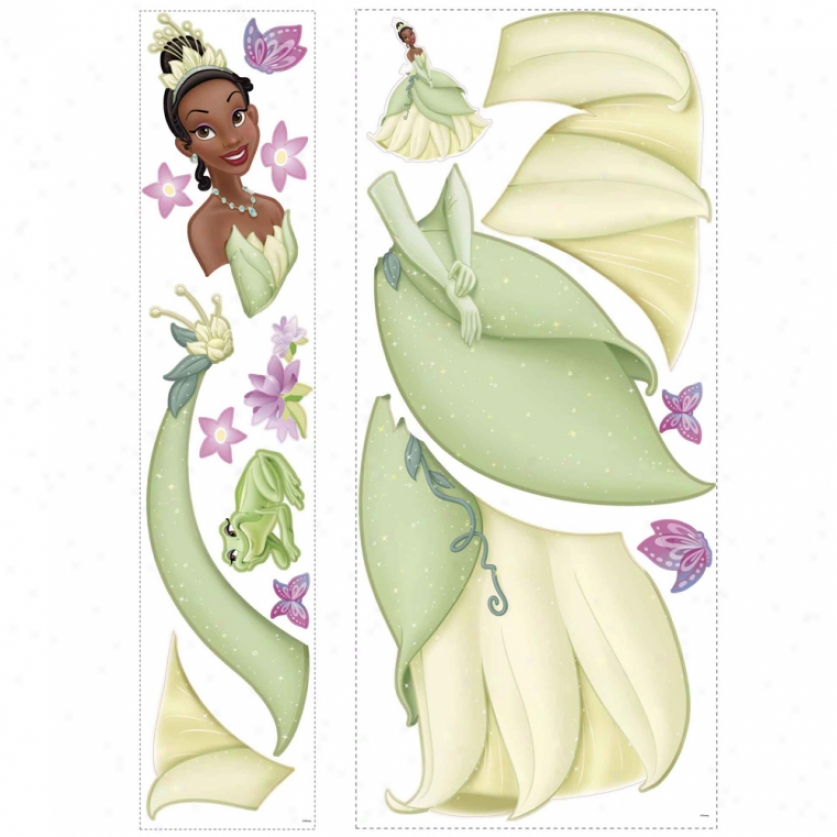 Tiana Giant Wall Decal With 3d Butterflies
