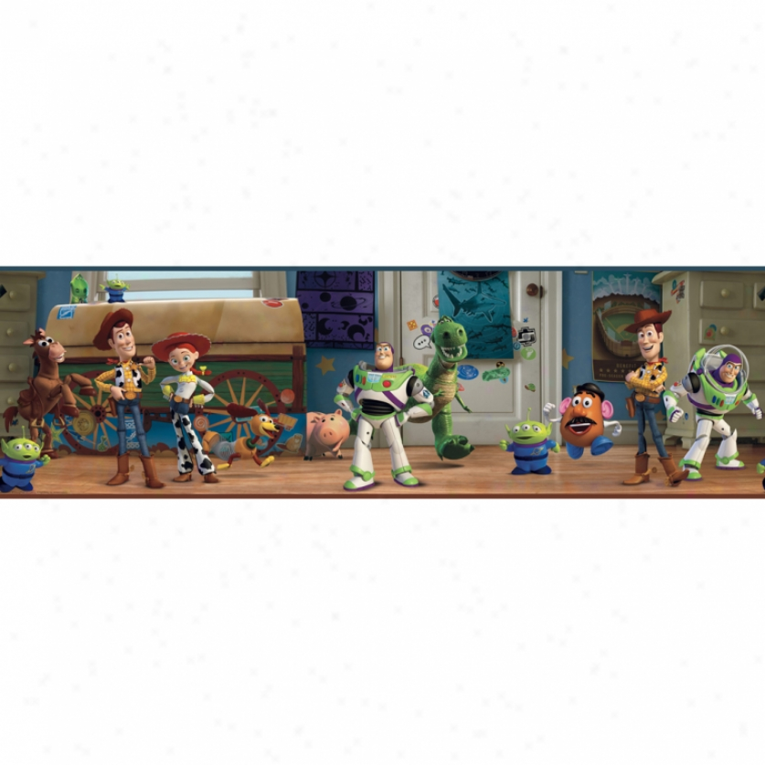 Toy Story Andy's Room Prepasted Wallpaper Border