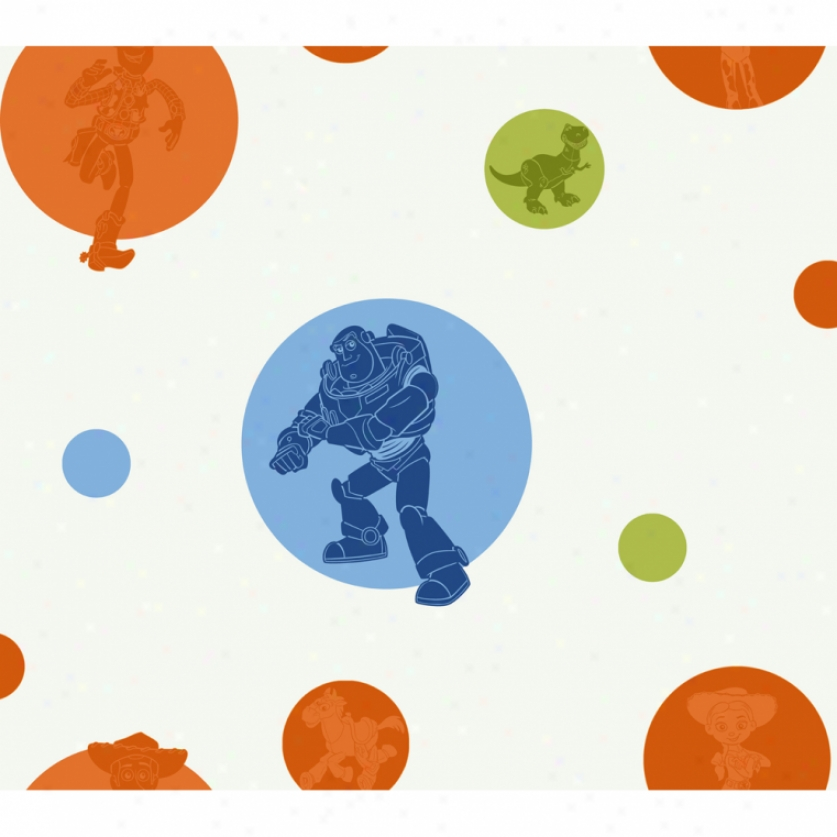 Toy Story Circles & Silhottes Wallpaper