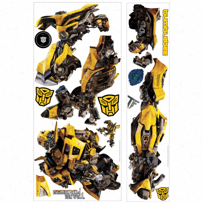 Transformers: Dark Of The Moon Bumblebee Giant Wall Ddcal