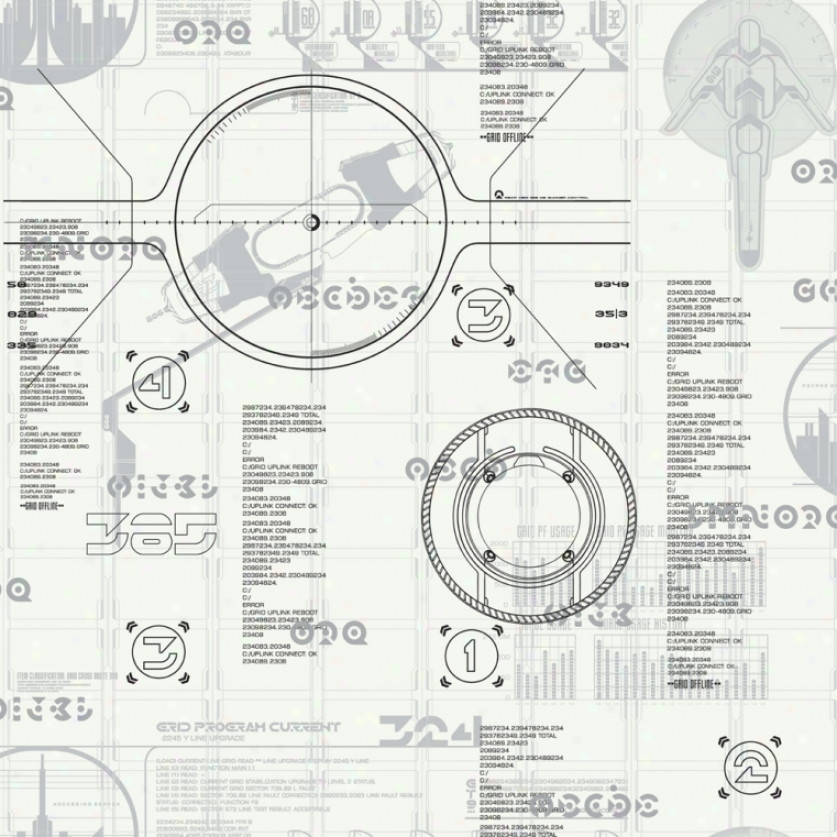 Tron: Legacy Black & White Wallpaper