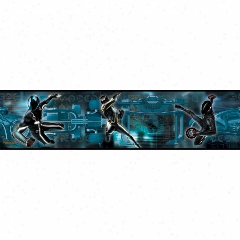 Tron: Legacy Peel & Stick Border