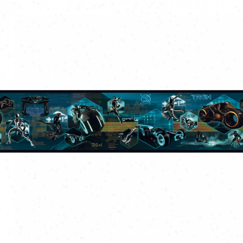 Tron: Legacy Prepasted Wallpaper Border