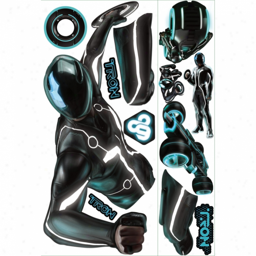 Tron: Legacy Sam Be ardent In The Dark Gisnt Walll Decal