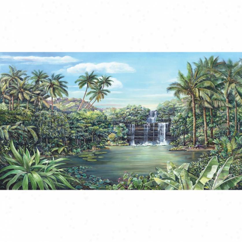 Tropical Lagoon Xl Wallpaper Mural 10.5' X 6'