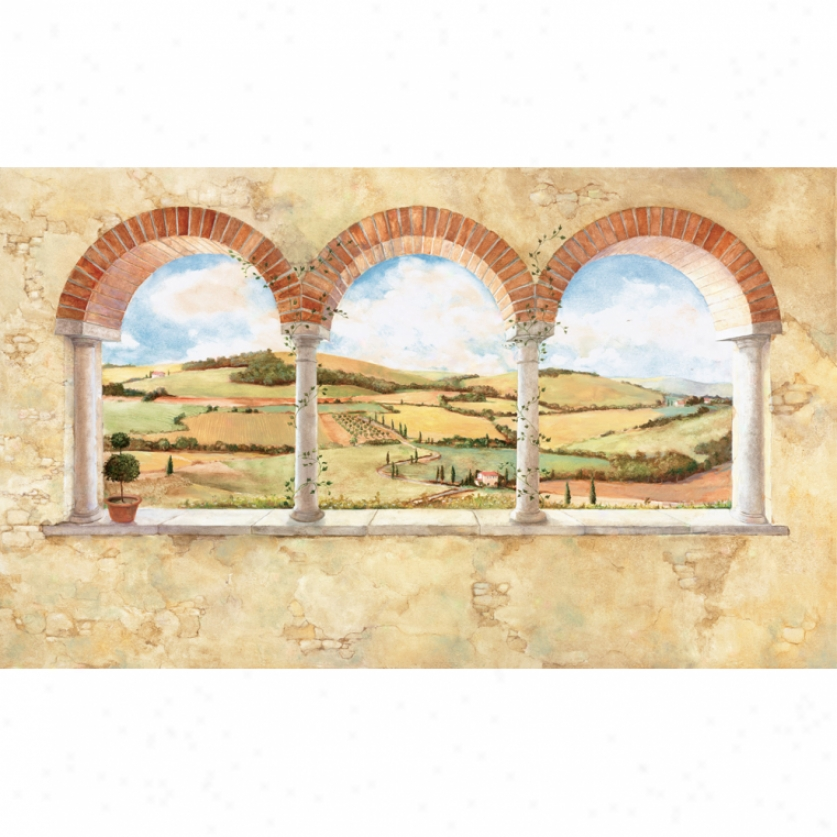 Tuscan View Xl Wallpaper Mural 10.5' X 6'