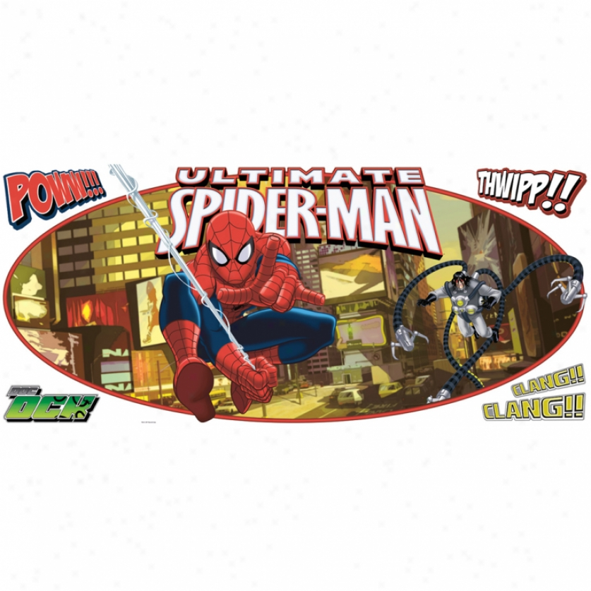 Ultimate Spider-man Headboard Giant Wall Decal