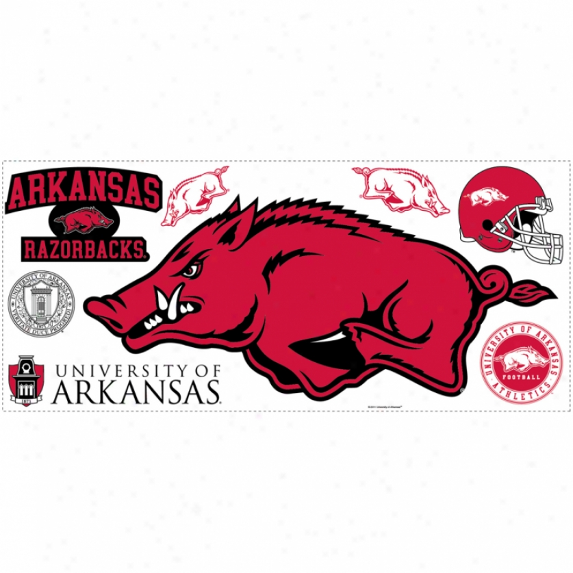 University Of Arkansas Giant Wall Decal With Hooks