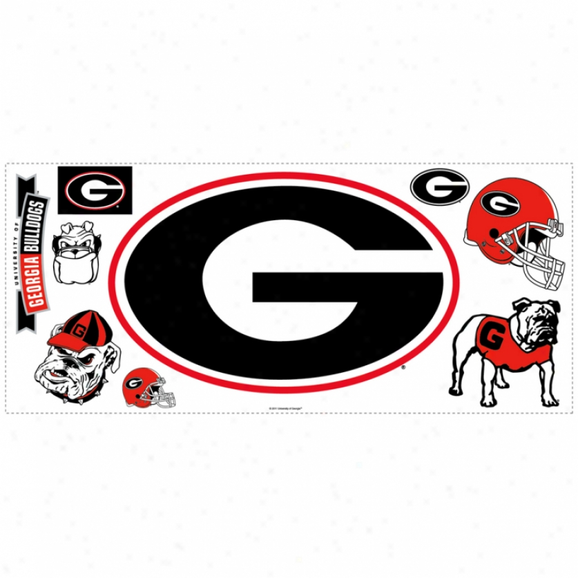 Univrrsity Of Georgia Giant Wall Decal With Hooks