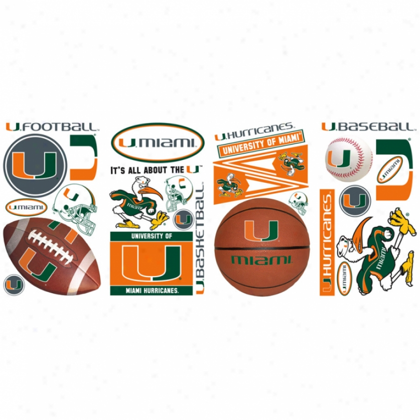 University Of Miami Wall Decals