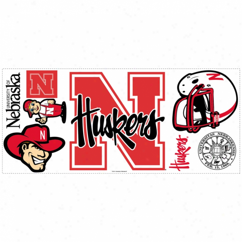 University Of Nebraska Monster Wall Decal With Hooks