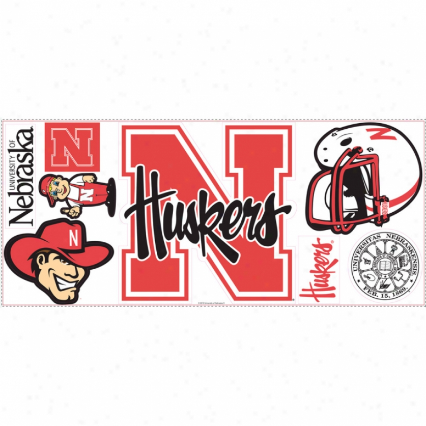 University Of Nebraska Giant Wall Decal