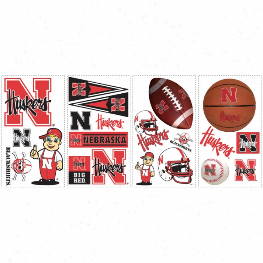 University Of Nebraska Wall Decals