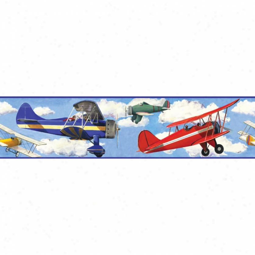 Vintage Planes Peel & Abide Border