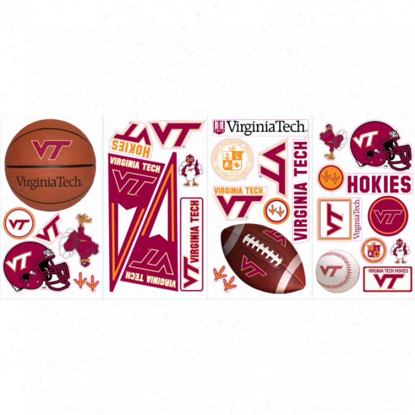 Virginia Tech University Wall Decals