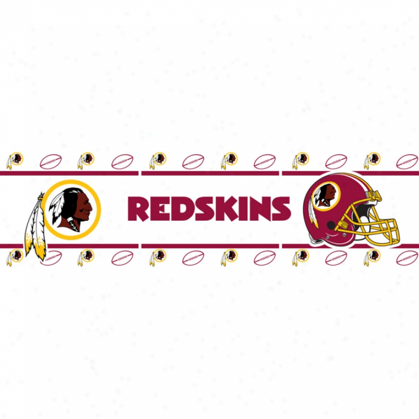 Washington Redskins Peel & Stick Border