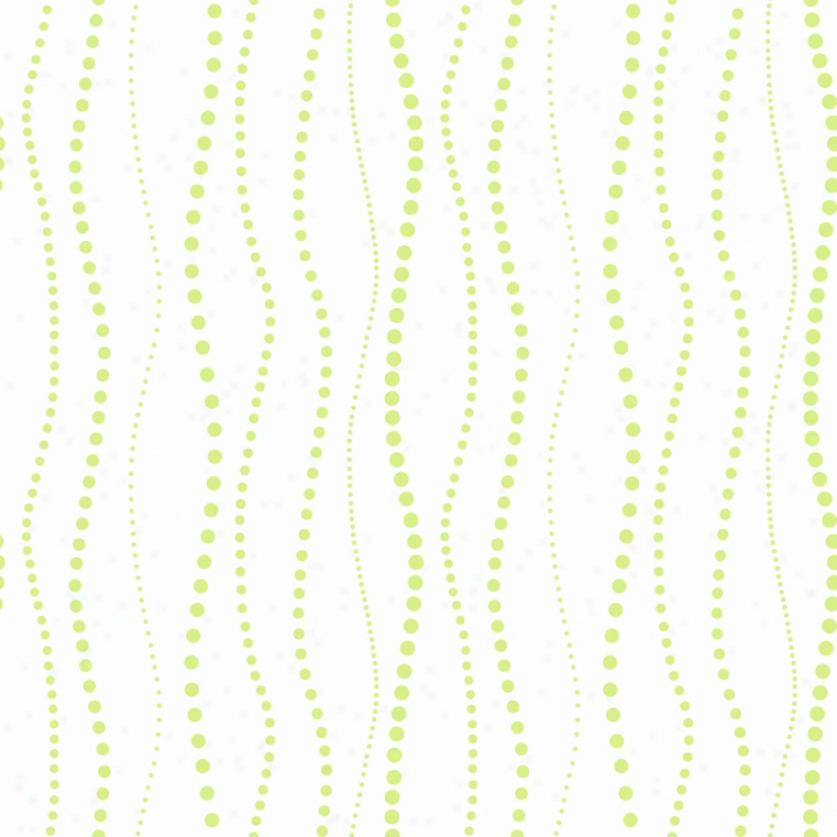 WavyB eads White & Lime Wallpaper