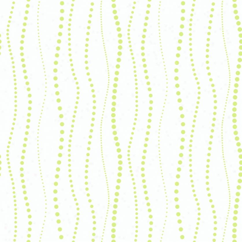 WavyB eads White & Lime Wallpaper