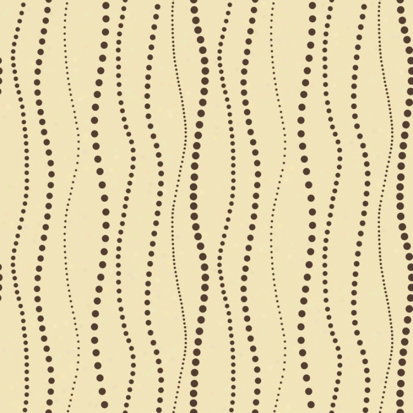 Undulating Beads Yellow & Brown Wqllpaper