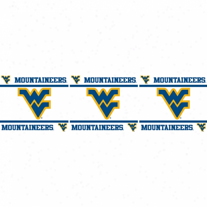 West Virginia University Peel & Stick Border
