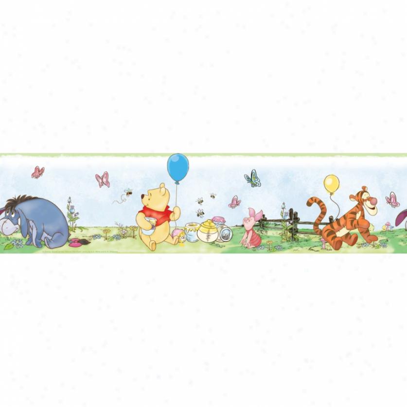Winnie The Pooh Peel & Stick Wall Border