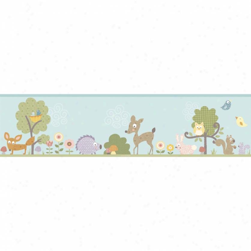 Woodland Animals Peel & Stick Border