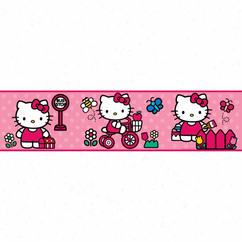 World Of Hello Kitty Peel & Stick Bordr