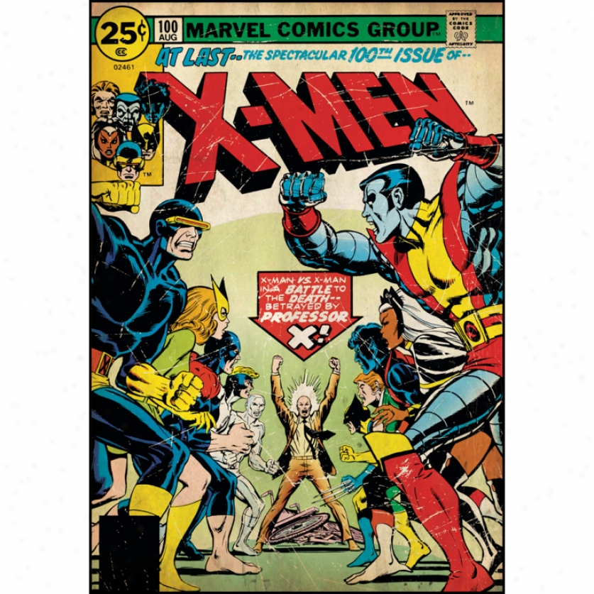 X-men Issue #100 Comic Cover Giant aWll Decal