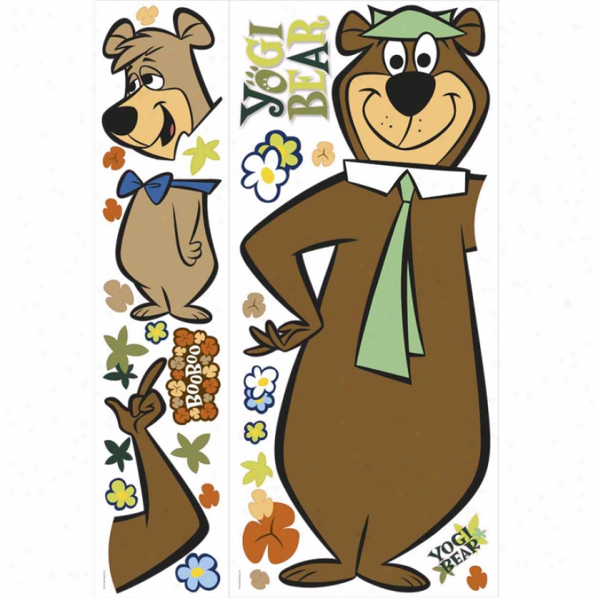 Yogi Bear & Boo-boo Giant Wall Decals