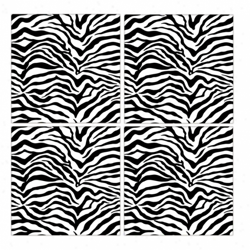 Zebra Peel & Stick Froth Tiles