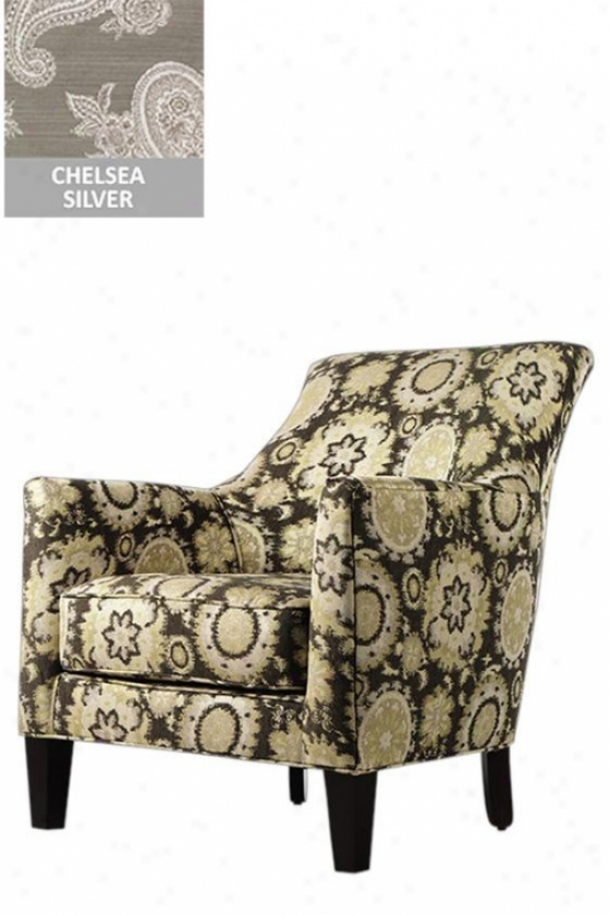 """accent Chairman - 34.5""""x29.5""""x36, Chelsea Silver"""