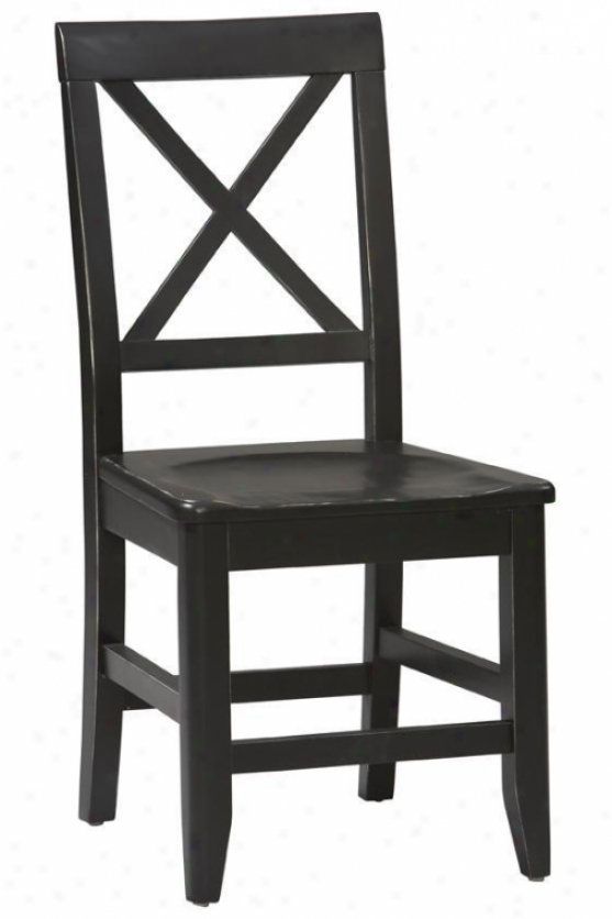 """anna Dining Chair - 36.65""""hx17.25""""w, Black"""